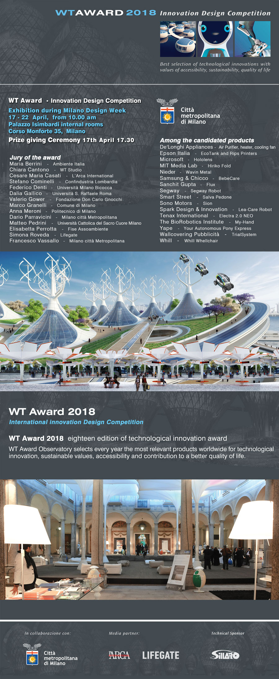 WT Award 2018 Milano Design Week
